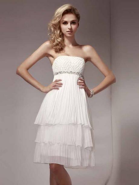 Abendkleid kurz weiß