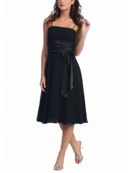 Abendkleid schwarz knielang