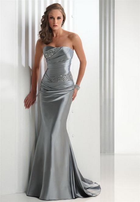 Abendkleid silber