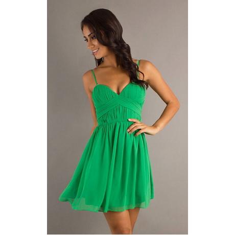 Abendkleider kurz grün