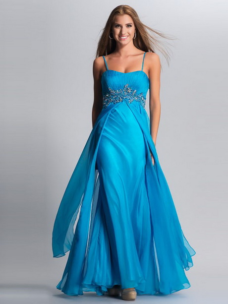 Abendkleider lang dunkelblau