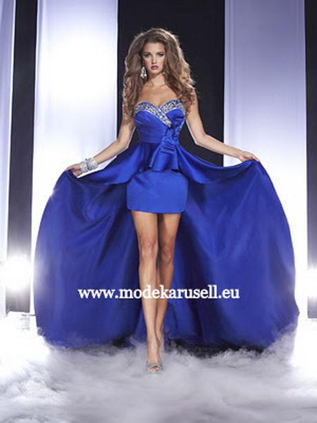 Vokuhila abendkleid in blau günstig online kaufen