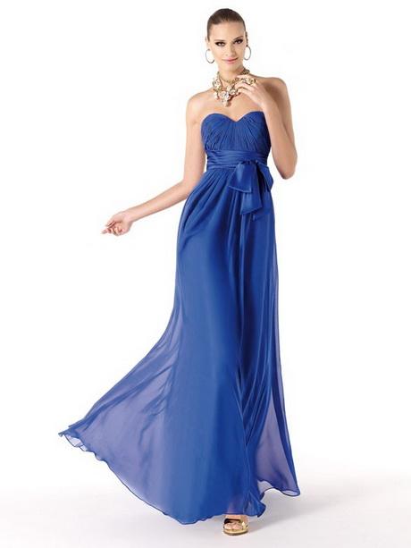 Blaues abendkleid lang