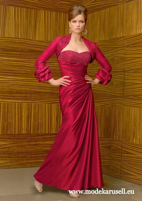 Bolero abendkleid for Rotes abendkleid lang