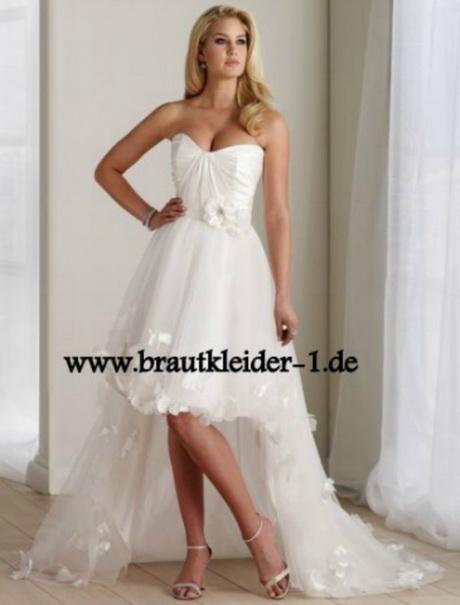 Süsses Vokuhila Brautkleid Vorne Kurz Hinten Lang Brautmode Online ...