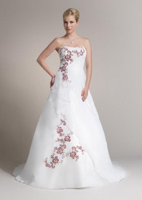 Brautkleid in Rot und Weiß: Marylise. Weißes Hochzeitskleid mit ...