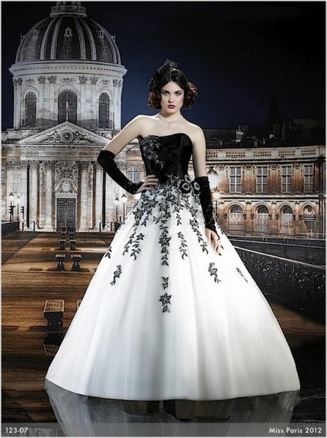 Brautkleider schwarz weiss