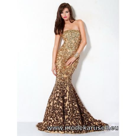 goldenes abendkleid lang