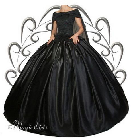 WGT Gothic Hochzeit Brautkleid mit angenähter Schulterschleppe ...