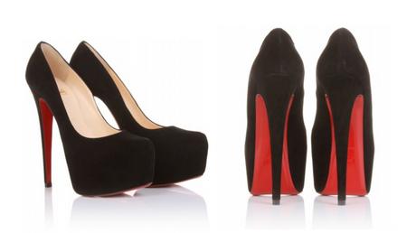 high heels schwarz rote sohle. Black Bedroom Furniture Sets. Home Design Ideas