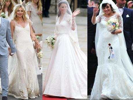 Die Hochzeitskleider von Hippie- Braut Kate Moss Märchenprinzessin ...