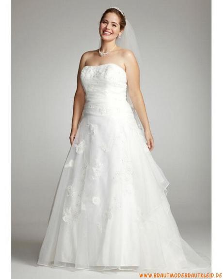 Weiße Brautkleider für Mollige aus Organza