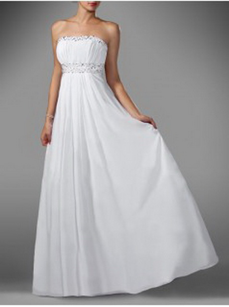 Kleid lang weiss
