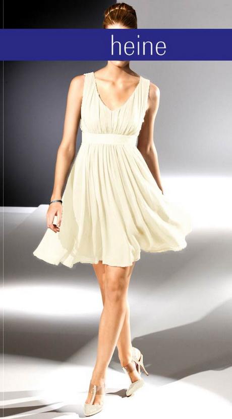 Kleid standesamt creme
