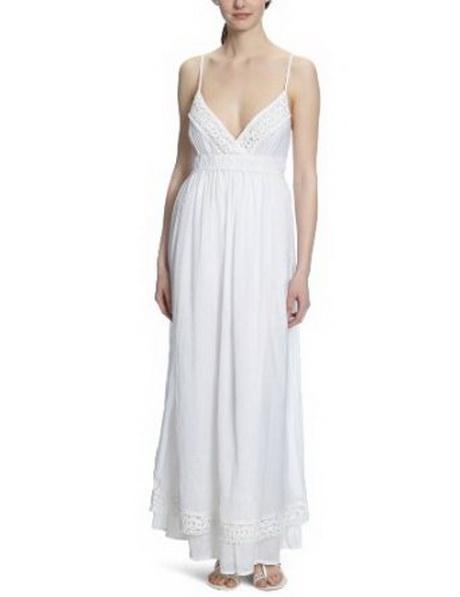 Kleid weiss lang