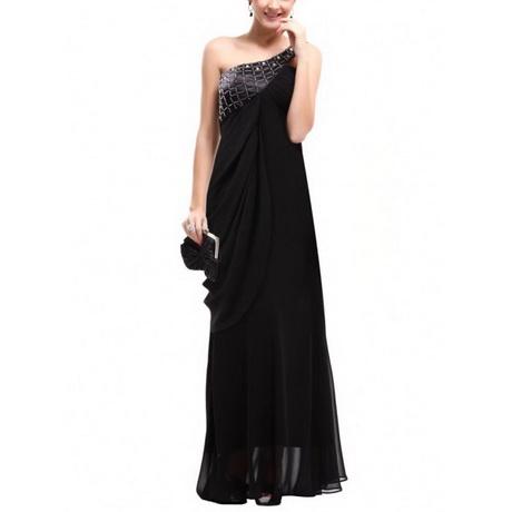 schwarz abendkleid lang
