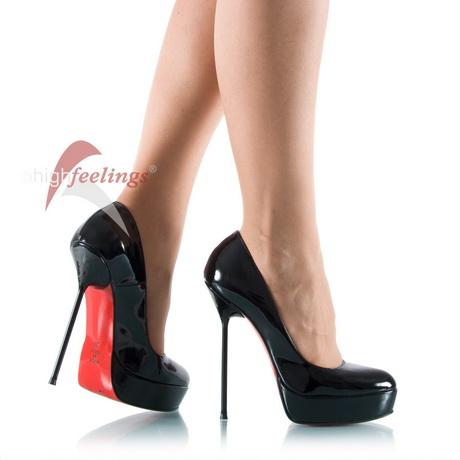 schwarze high heels rote sohle. Black Bedroom Furniture Sets. Home Design Ideas