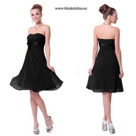 schwarze knielange kleider
