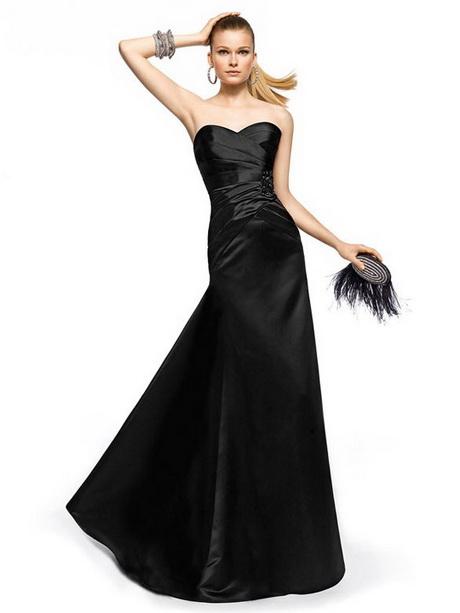 schwarzes abendkleid lang