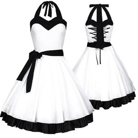 Weißes rockabilly kleid