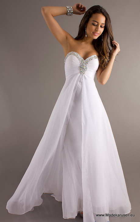 Weisses kleid lang
