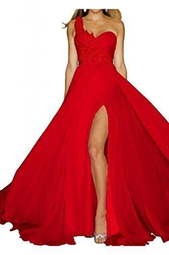 Braut abendkleider for Rotes kleid mit schlitz