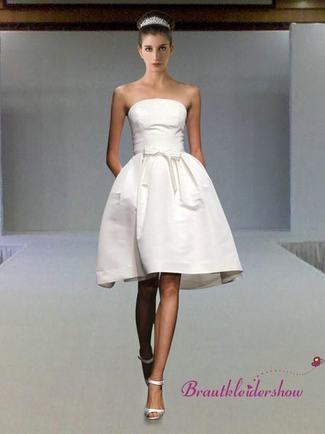 Kurz Brautkleid Prinzessin Schlicht Standesamt Schleife GWRW159 €223 ...