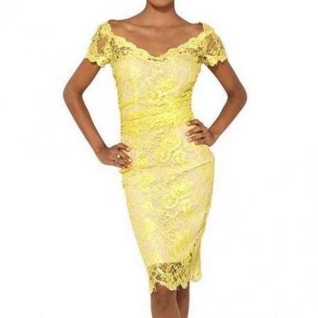 festliche kleider gelb
