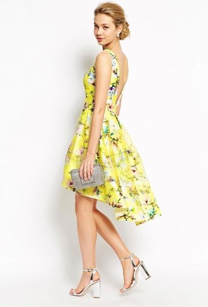 Gelbe kleider für hochzeitsgäste