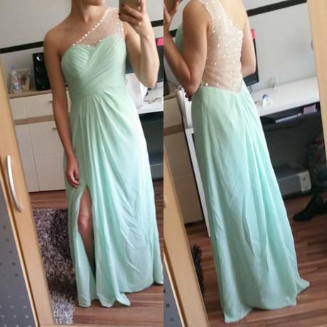 Abendkleid mintgrün lang