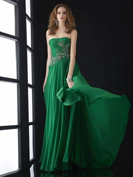 Abendkleider lang dunkelgrün