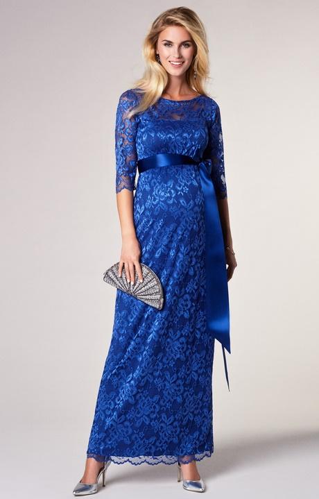 Blaues spitzenkleid lang