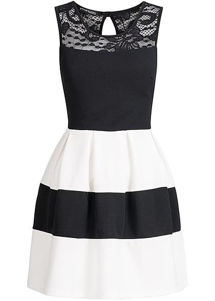 Gestreiftes kleid schwarz weiß