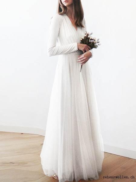 Kleid lang mit rmeln for Milanoo abendkleider