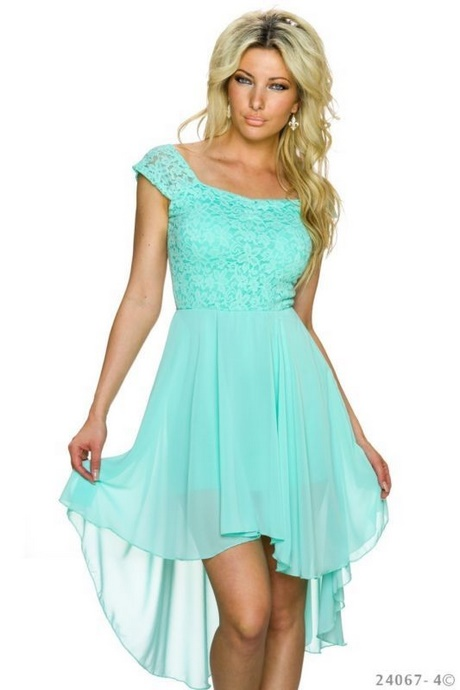 kleid mintgrün lang