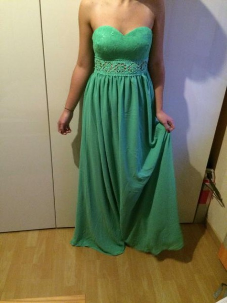 Mintgrünes kleid lang