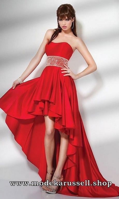 Rotes kleid vorne kurz hinten lang - Rotes abendkleid lang ...