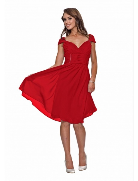 Rotes sommerkleid knielang for Rotes kleid kurz