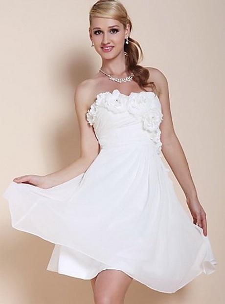 Kleid Weiß Kurz