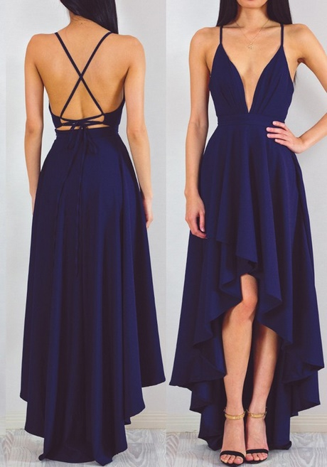 Vokuhila kleid dunkelblau