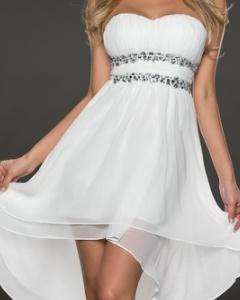 Vokuhila kleid schwarz weiß