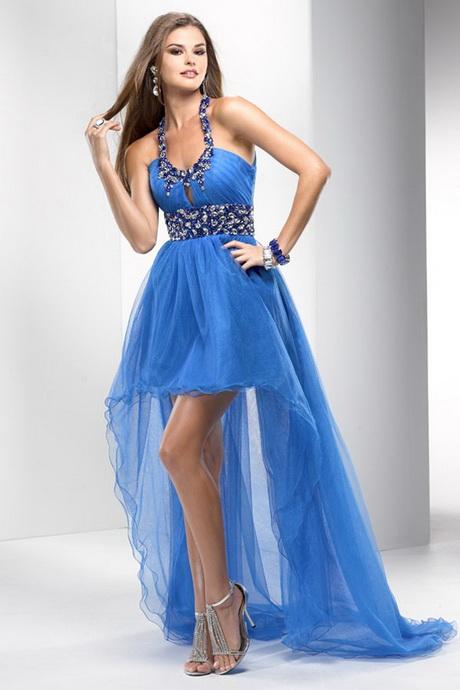 Blaues kleid lang