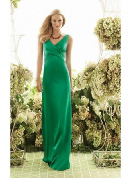 Grünes langes abendkleid