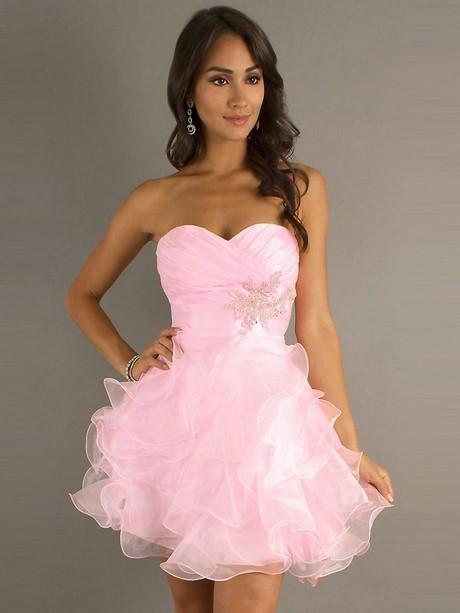 Abendkleider kurz rosa