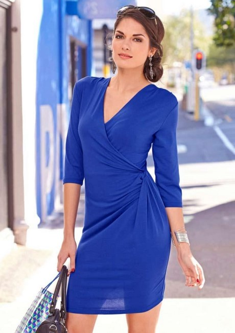 Kleid in royalblau