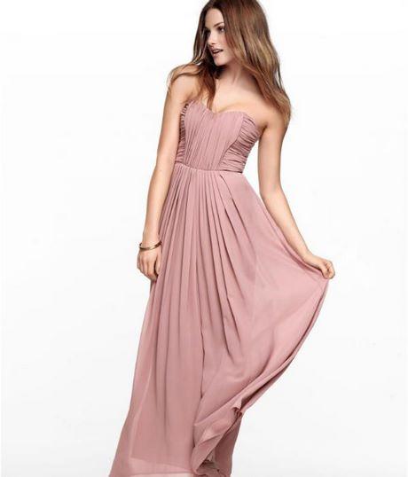 Altrosa langes kleid