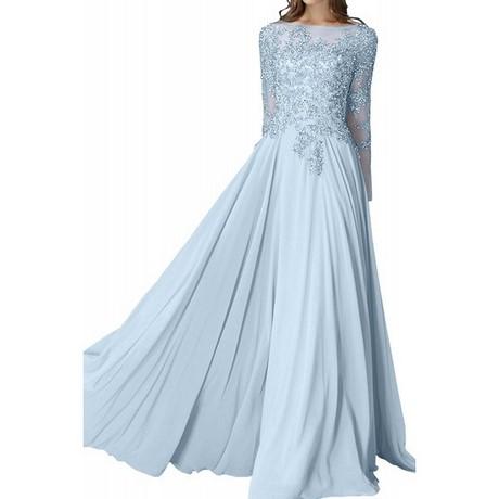 Kleid hellblau langarm
