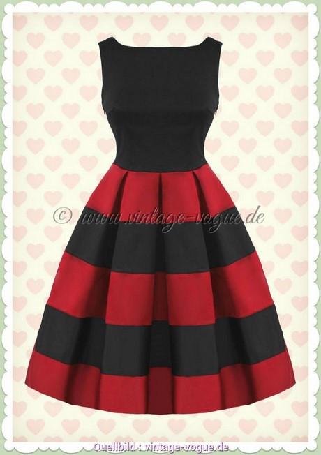Kleid rot schwarz gestreift