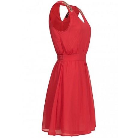 Kleid rückenausschnitt perlen