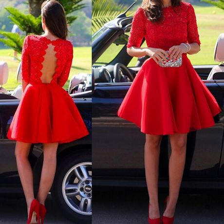 Rotes kleid kurz rückenfrei